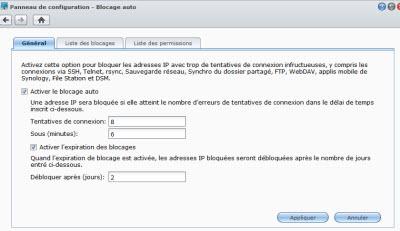 Blocage IP sous DSM 4.3