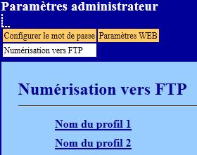 Numérisation vers FTP
