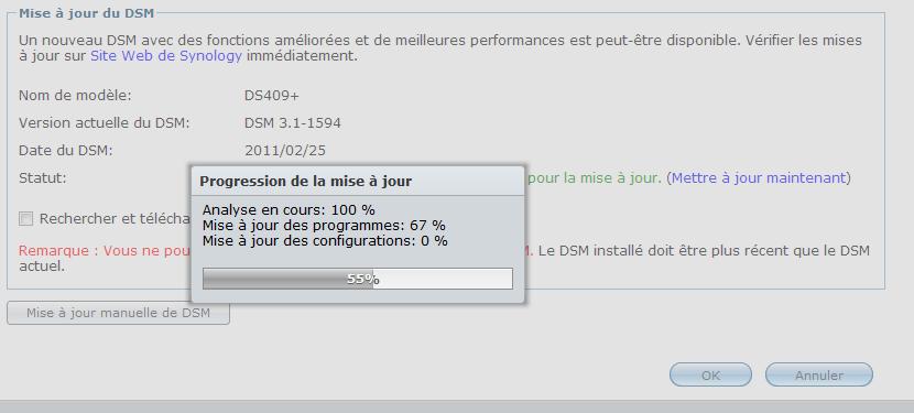 Mise à jour du Firmware sur un DS409+