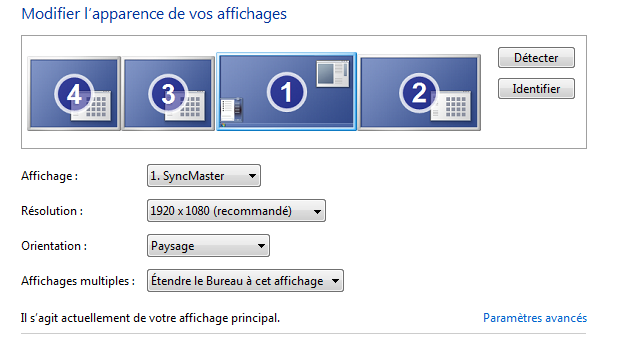 Multi-écrans sous Windows 7