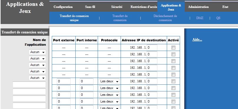 Network Address Translation et Port Address Translation