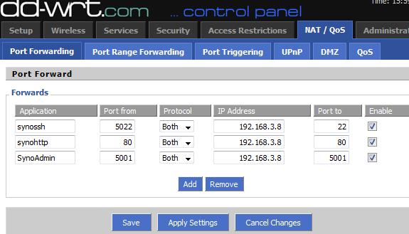 NAT-PAT sous DDWRT dans un routeur linksys