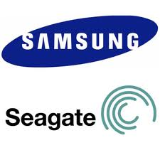Logo Samsung et Seagate