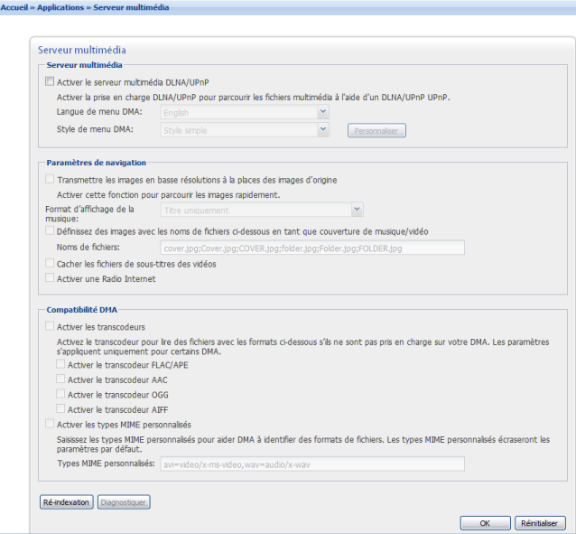 Synology DNLA dans la version DSM 2.3