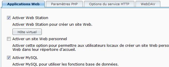 Activer le Webstation